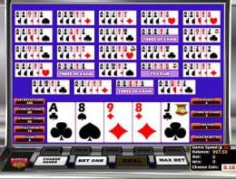 Play Multi-hand Bonus Deluxe Poker in our Bitcoin Casino