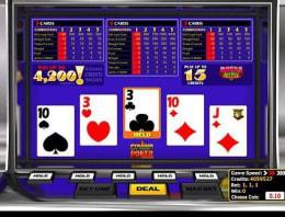Play Pyramid Bonus Deluxe Poker in our Bitcoin Casino