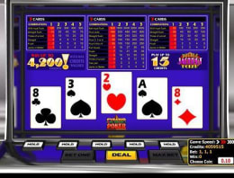Play Pyramid Double Jackpot Poker in our Bitcoin Casino