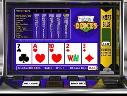 Play Bonus Deuces Poker in our Bitcoin Casino