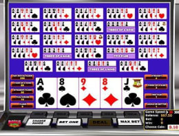 Play Multi-hand Bonus Deluxe Poker in our Bitcoin Casino