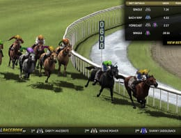 Play Virtual Racebook 3D in our Bitcoin Casino