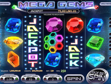 Play Mega Gems in our Bitcoin Casino