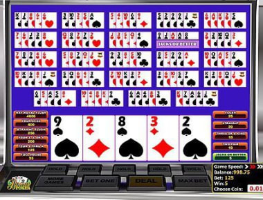 Play Multi-hand Bonus Poker in our Bitcoin Casino
