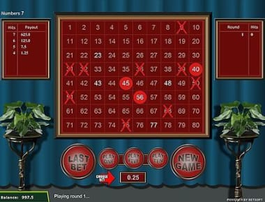 Play Traditional Keno in our Bitcoin Casino