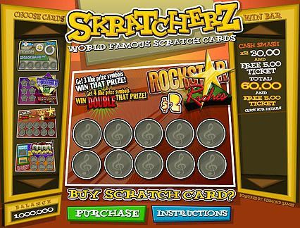Play Skratcherz in our Bitcoin Casino