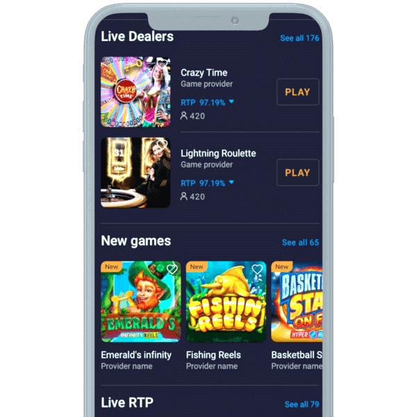 Cloudbet mobile view
