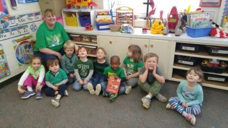 Bethel preschool class reading time.