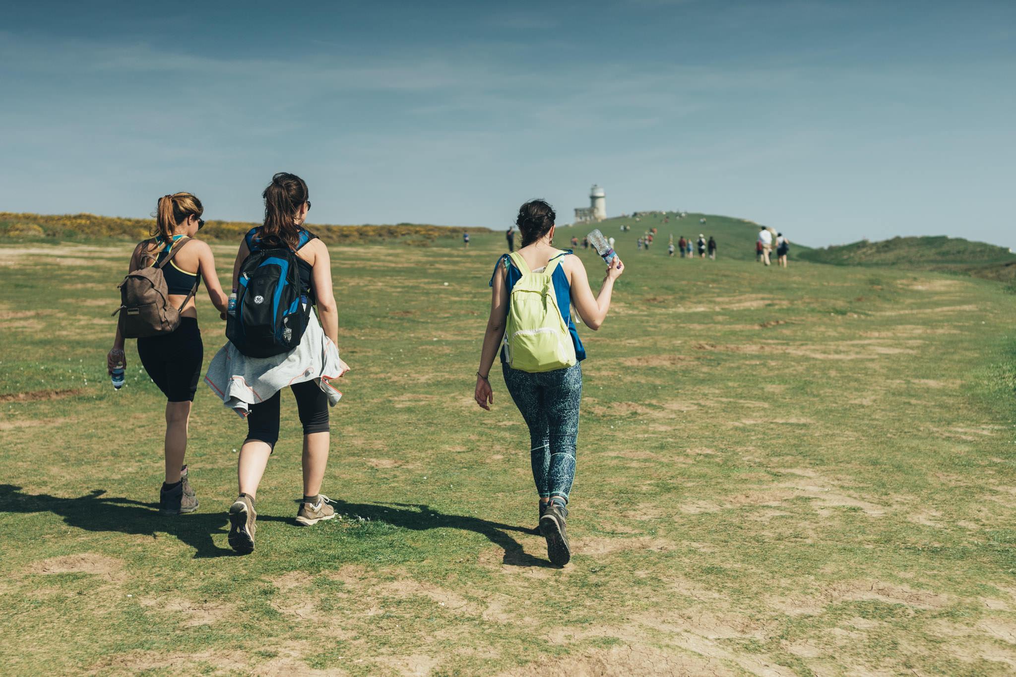 people walking on sevensisters