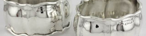 napkin-rings by buccellati at Beverly Bremer Silver Shop