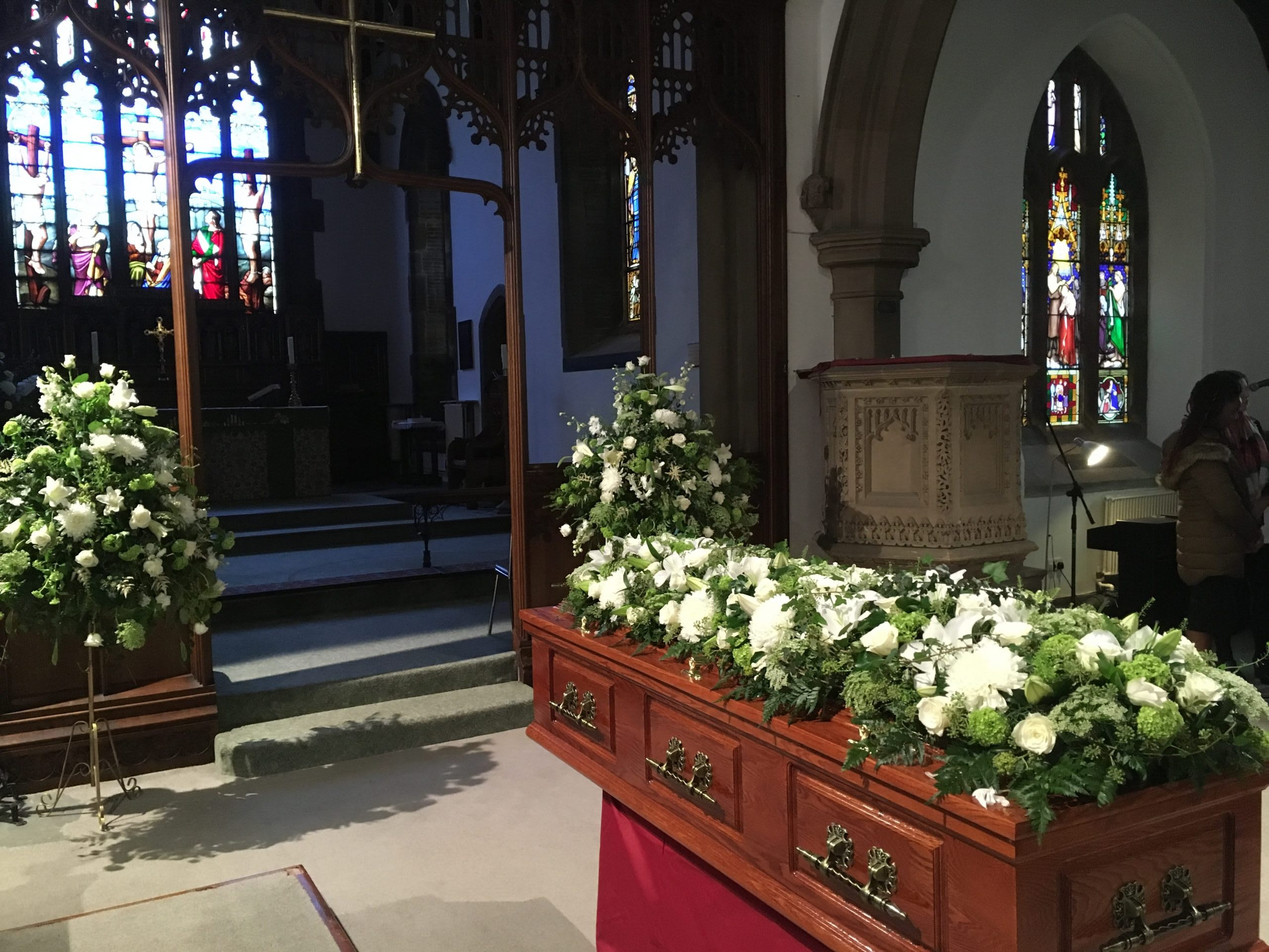 A traditional church funeral arranged by Full Circle Funerals