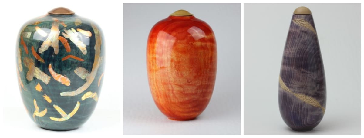 Unusual urns for ashes by Phil Irons