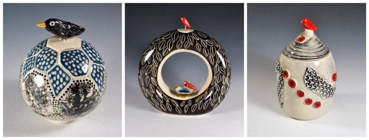 Unusual urns by Kris Cravens.