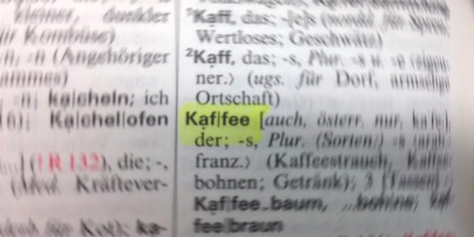 Wie schreibt man Kaffee richtig?