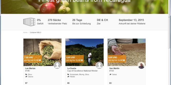 Algrano: Plattform für Röster und Bauern