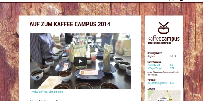 4. Kaffeecampus der Deutschen Röstergilde