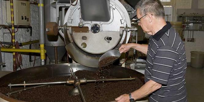 Rösten des Kaffees