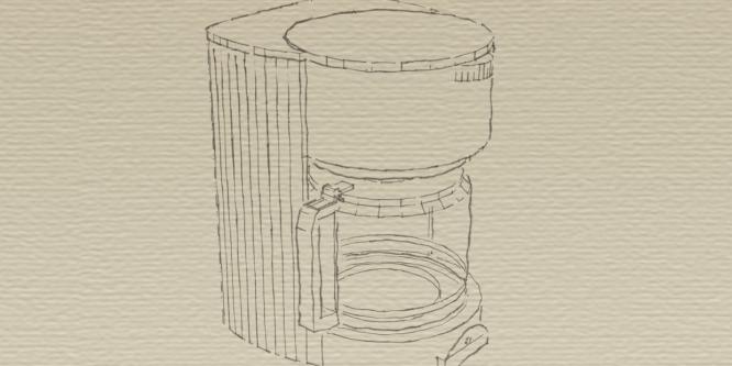 Die Filterkaffeemaschine