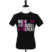 Work Travel Repeat Female T-Shirt