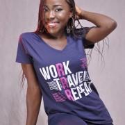 Work Travel Repeat Female V-neck T-shirt