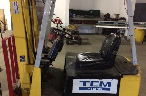 3-Wheel Battery TCM FTB15A Fork Lift, Offsite