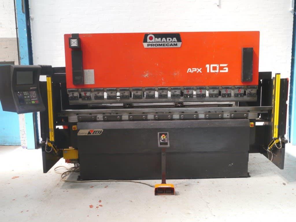 AMADA PROMECAM APX 100 ton x 3000mm 7 Axis upstroke CNC Press Brake