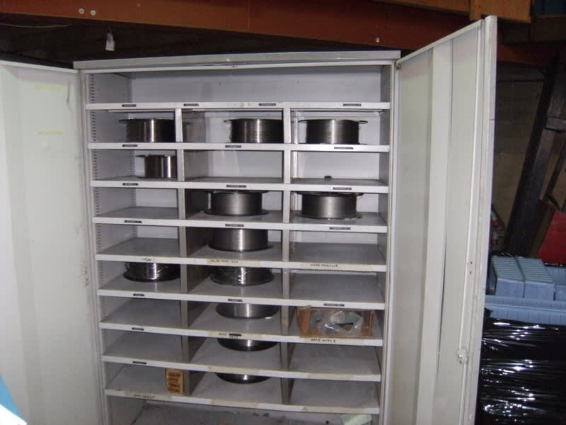Double Door Welding Wire Storage Cabinet on Auction Now at Apex ...