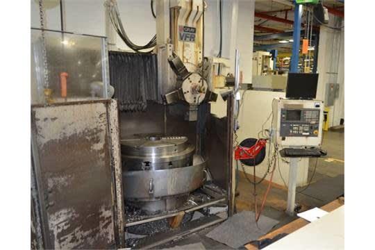 GRAY MDL  #VFR 42'' CNC VERTICAL TURRET LATHE, GE FANUC
