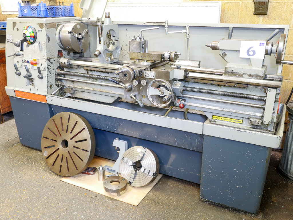 colchester triumph 2000 gap bed centre lathe - imperial machine