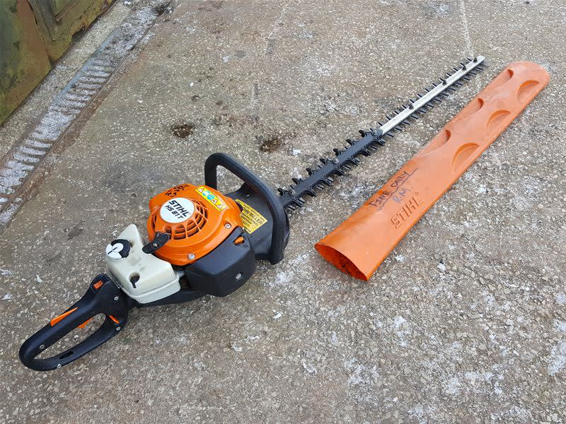 616ad0b6bee Stihl hs81t petrol powered hedge trimmer on Auction Now at BPI