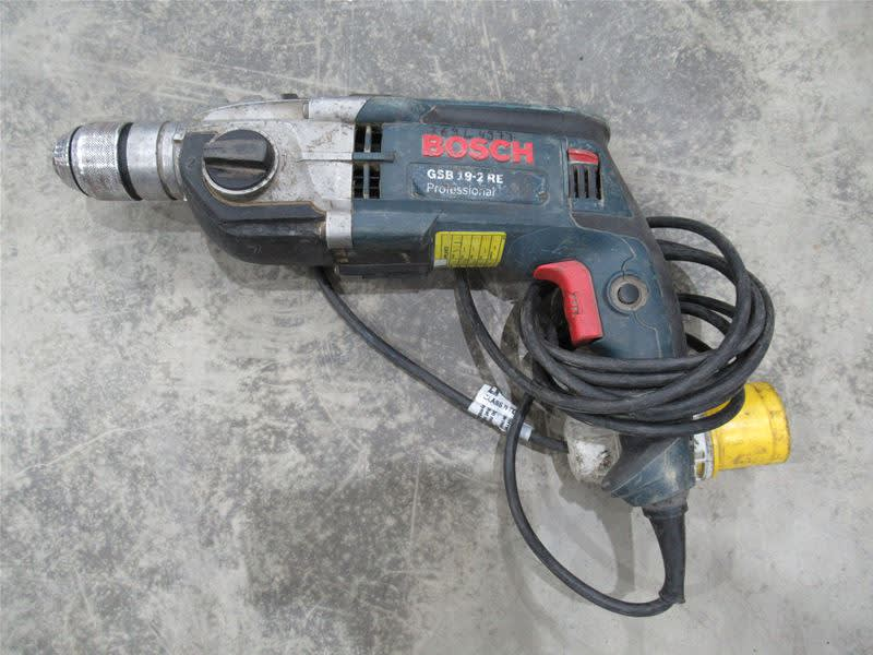 BOSCH GSB 19 2RE 2 SPEED PERCUSSION DRILL 110V On Auction Now At BPI
