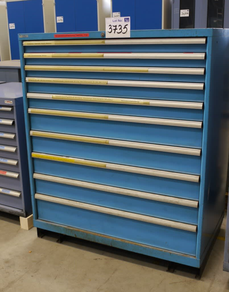 Lista 10 Drawer Tool Cabinet With Contents Of Measuring