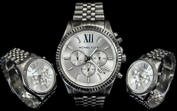 e5f3062de48f Michael Kors MK 8405 Lexington Steel Mens Chronograph Watch ...