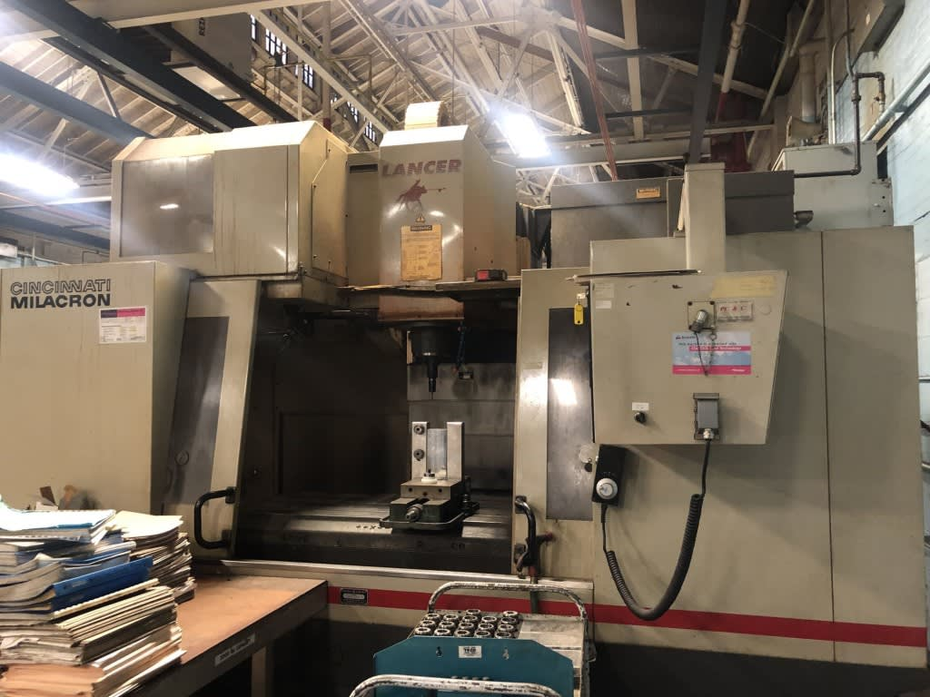 CINCINNATI MILACRON LANCER-1250 CNC Vertical Machining ... on
