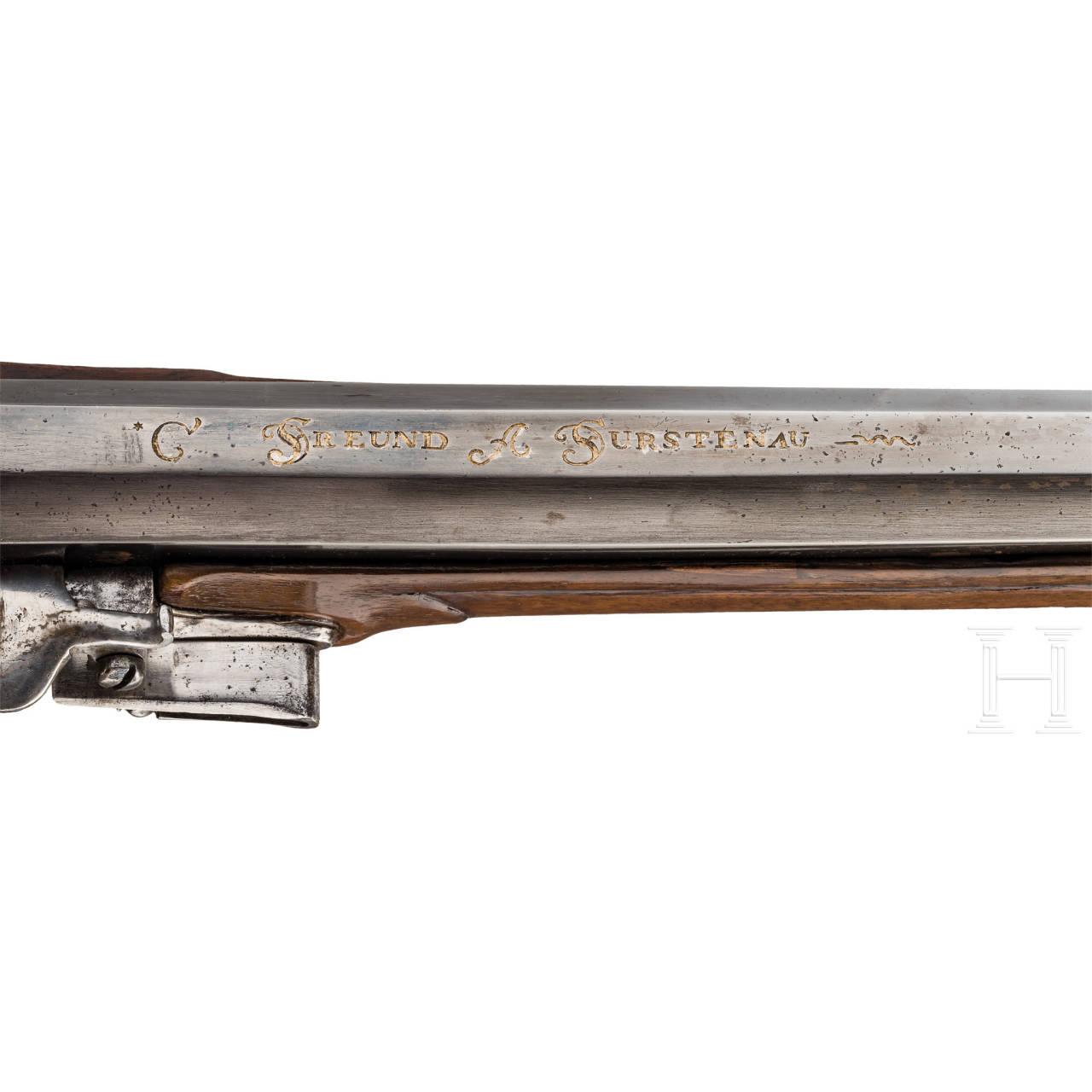 Steinschlossflinte aus der Gewehrkammer der Fürsten Sayn-Wittgenstein-Berleburg, C. Freund, Fürstenau, um 1740