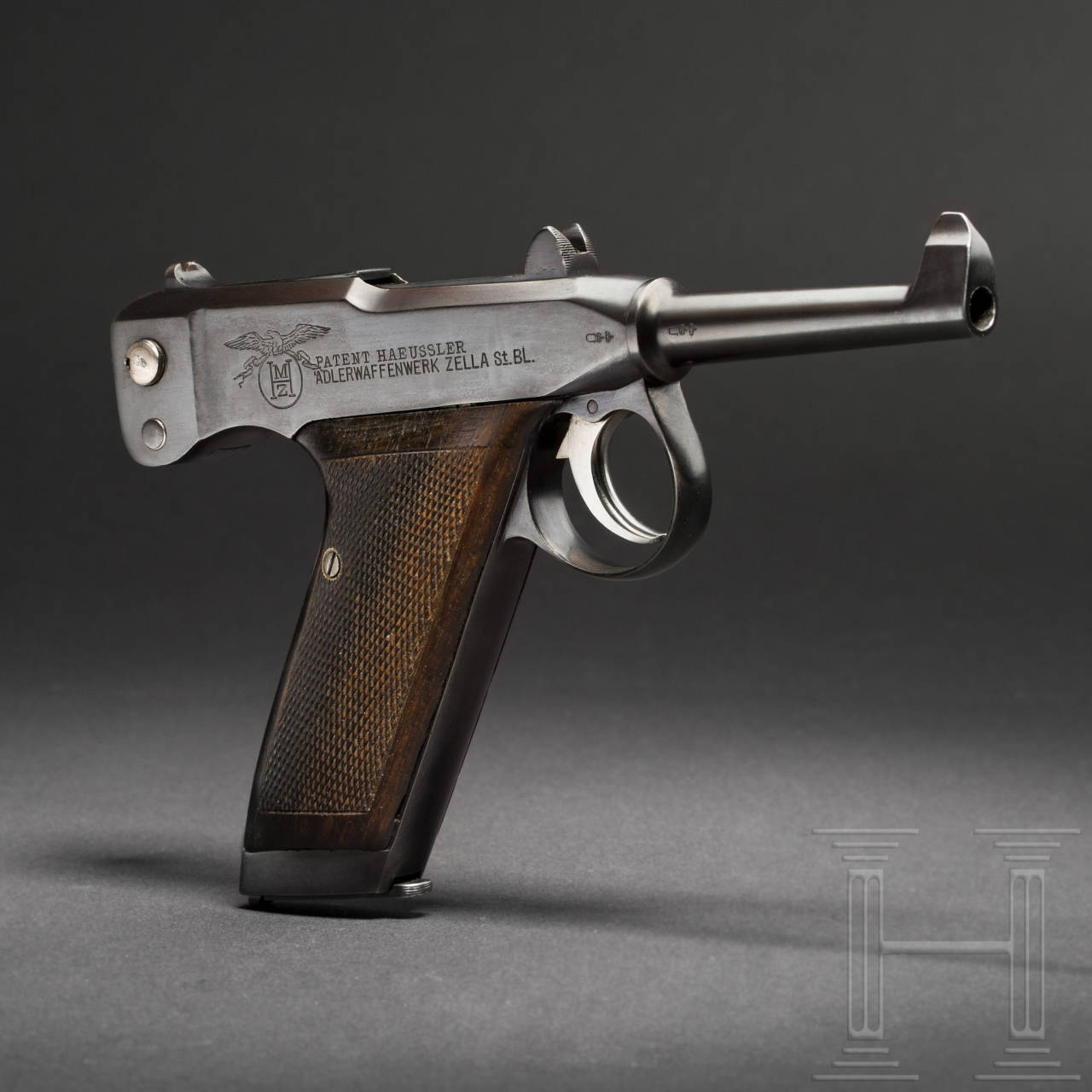 A self-loading Adler pistol, circa 1906/07