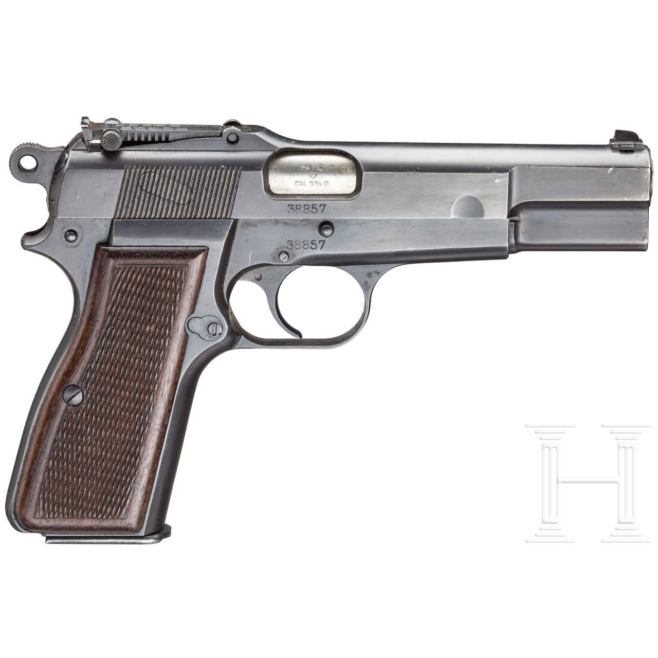 FN GP (Grand Puissance) Mod. 35, mit Tasche und Anschlagbrett