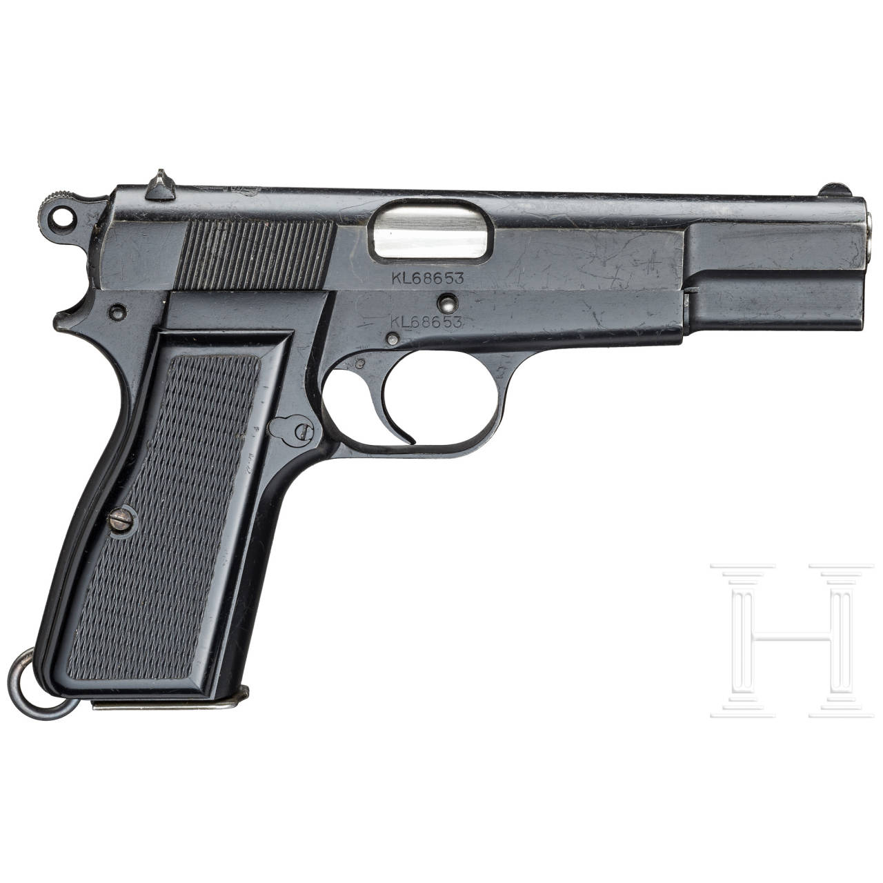 FN HP Mod. 35, mit Koffertasche und Magazintasche