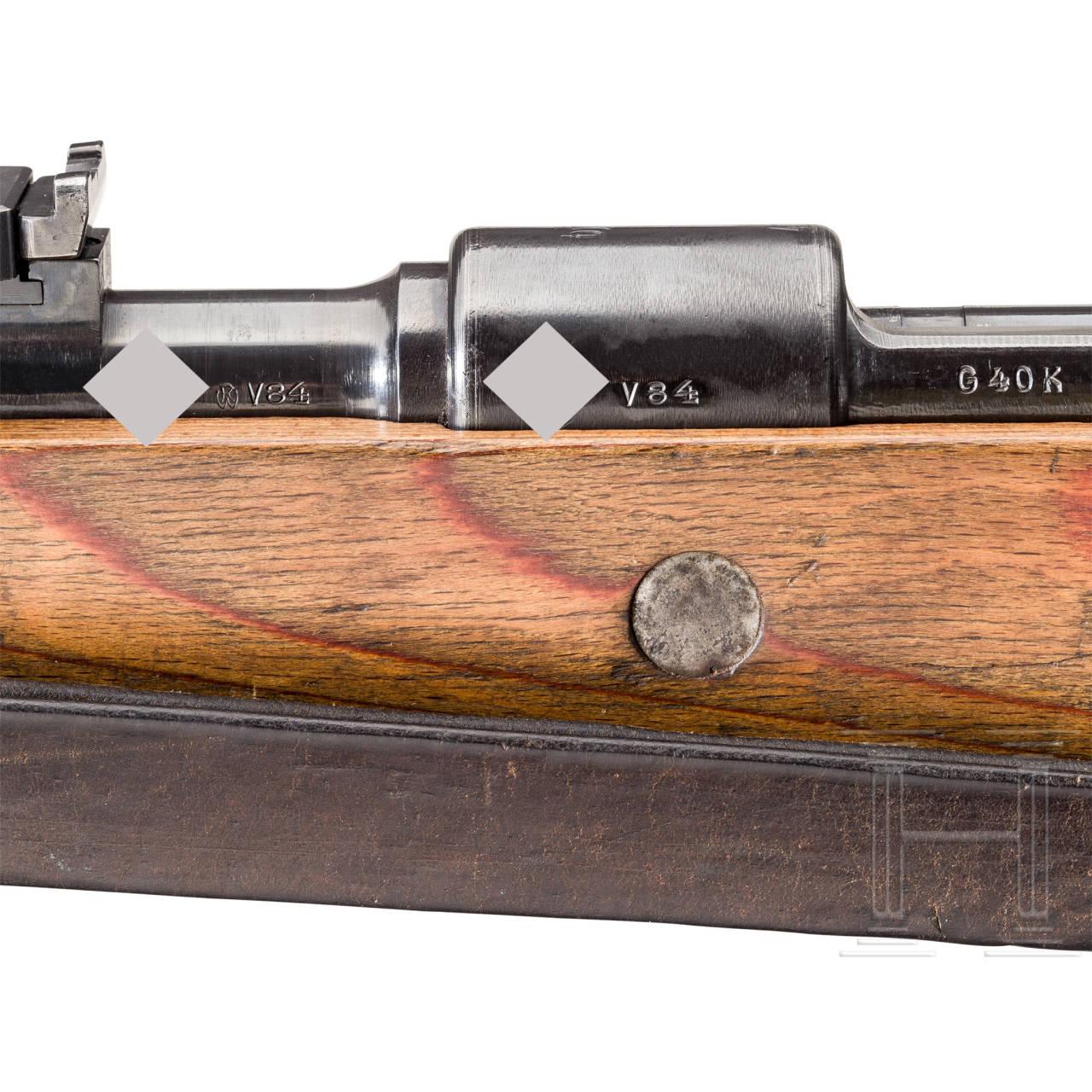 "Karabiner G 40 k, Code ""byf - 41"", gekürzte Experimentalversion des K 98k"