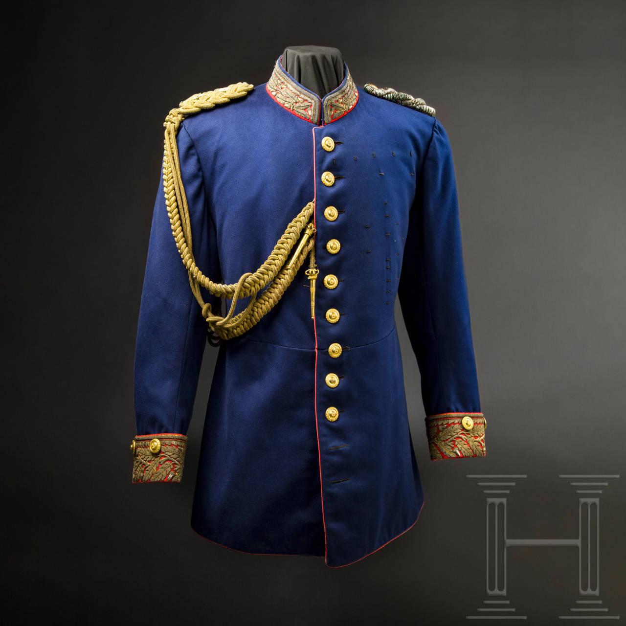 Ernst I, Duke of Saxe-Altenburg (1826 - 1908) - a uniform as Saxon general, circa 1905