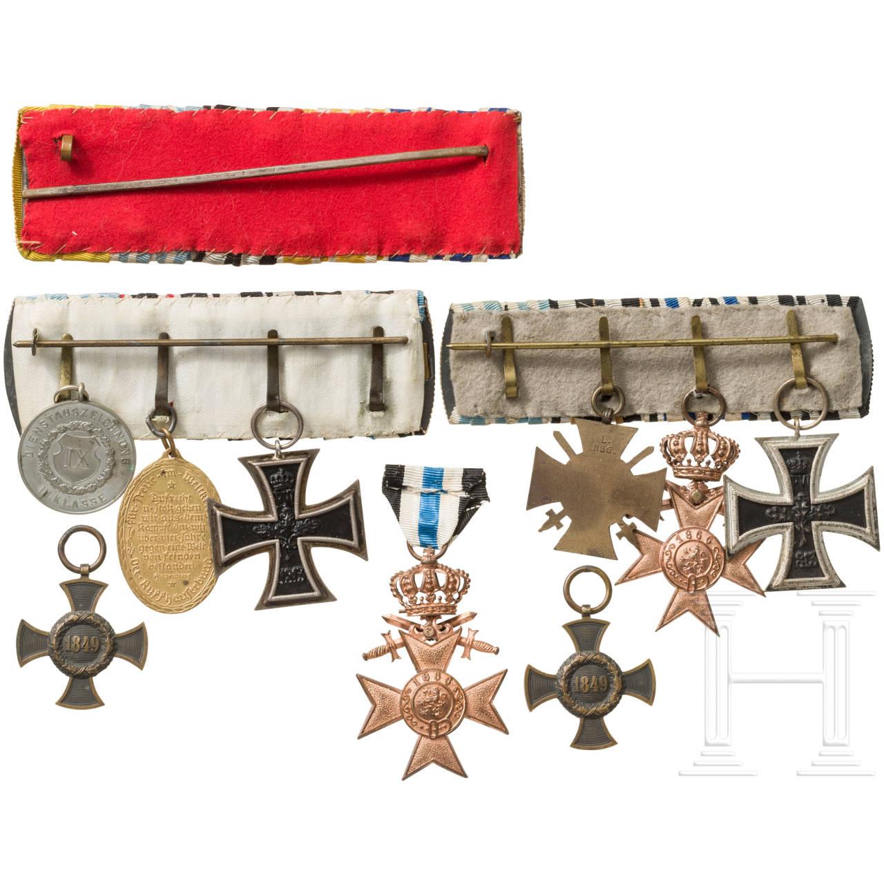 Ordensschnallen, Auszeichnungen, Verleihungsetuis, Bayern