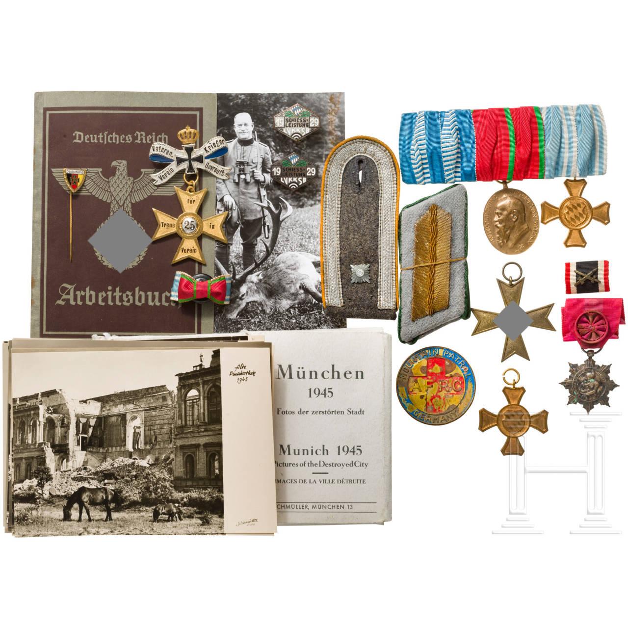 Ordensschnalle, Abzeichen Schützenwesen, ZBA Olympia 1936, Fotos, Varia, Bayern
