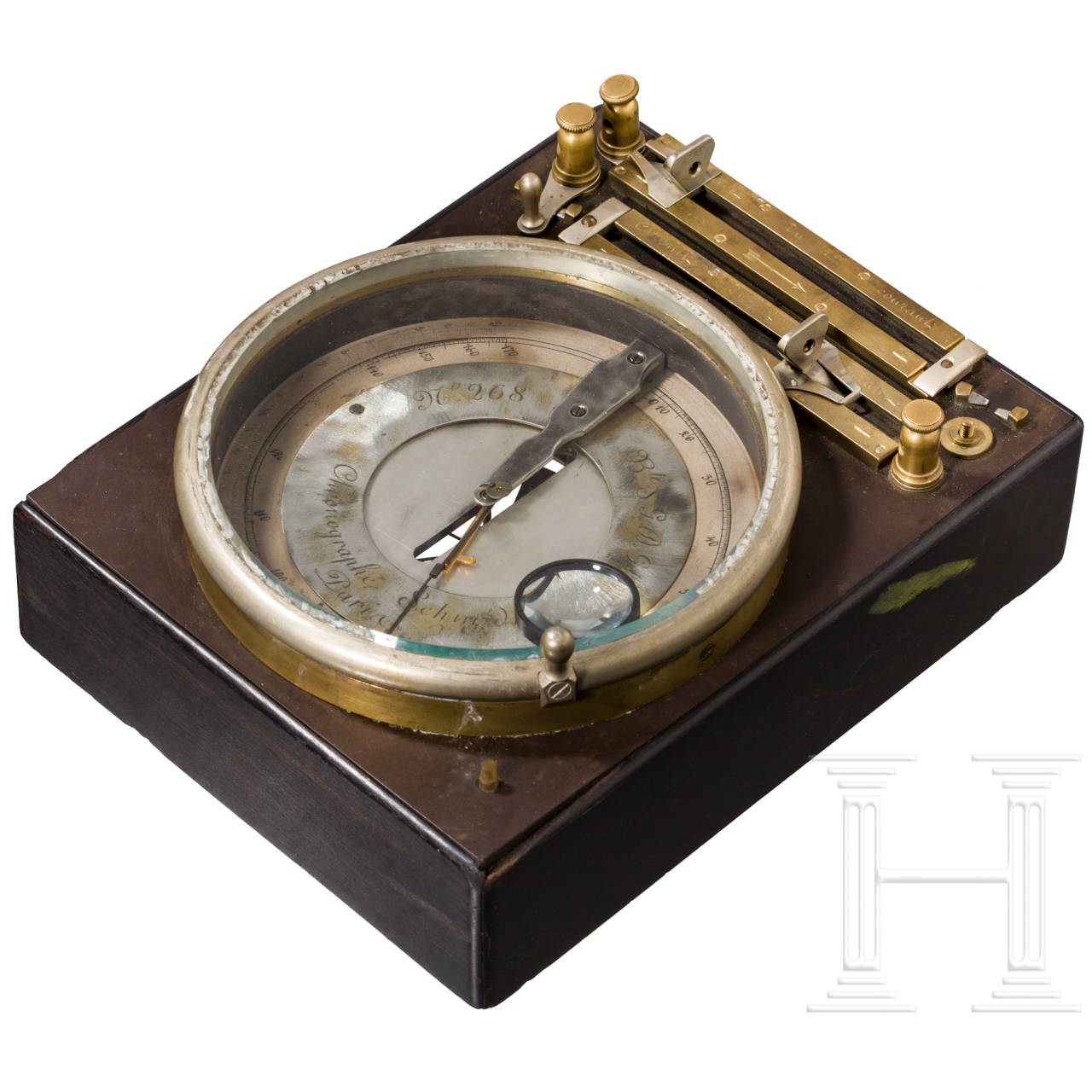Schmidt's Chronograph zur Messung der Geschossgeschwindigkeit, um 1890