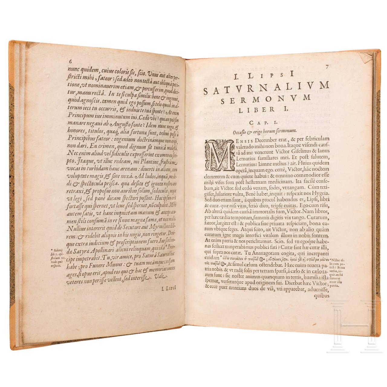 """Iusti Lipsi, """"Saturnalium Sermonum Libri Duo, Qui de Gladiatoribus"""", Antwerpen, 1604"""
