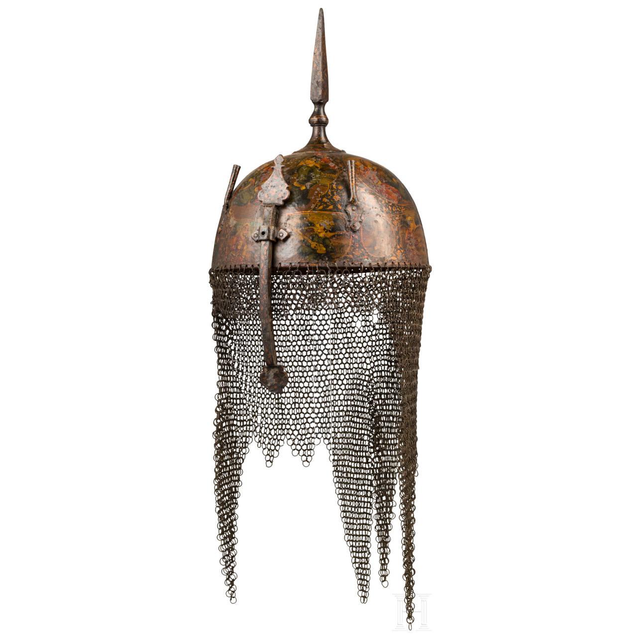 Bemalter Kulah Khud, Persien, 2. Hälfte 19. Jhdt.