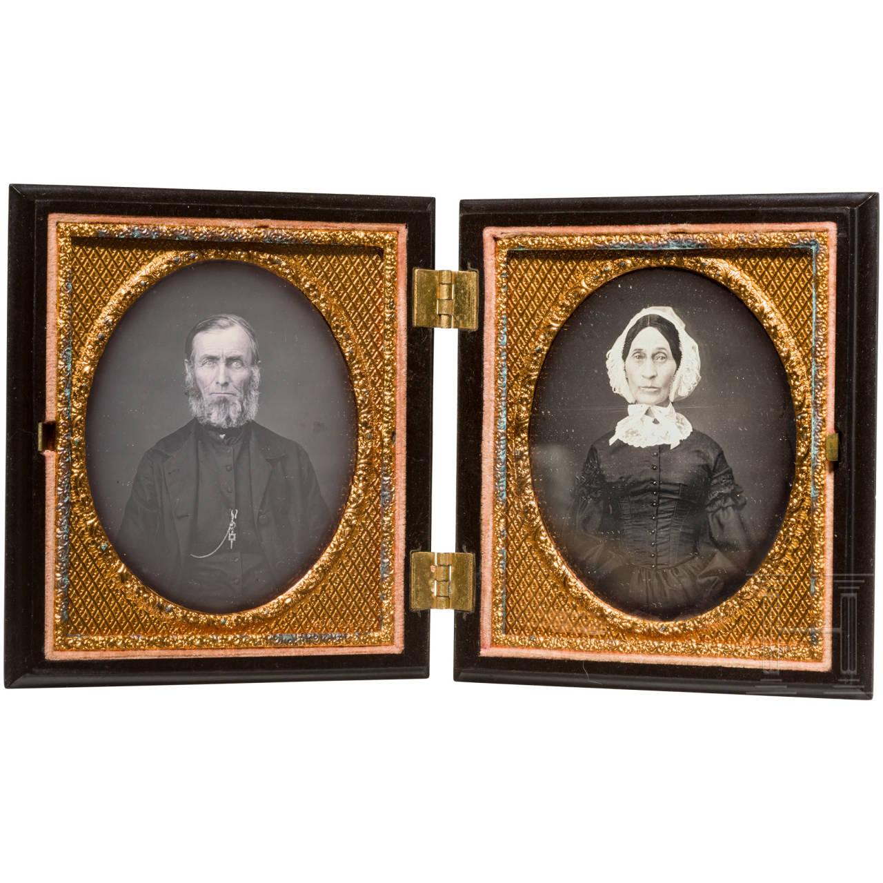 Ein Paar Daguerreotypien, England/ USA, um 1850/60