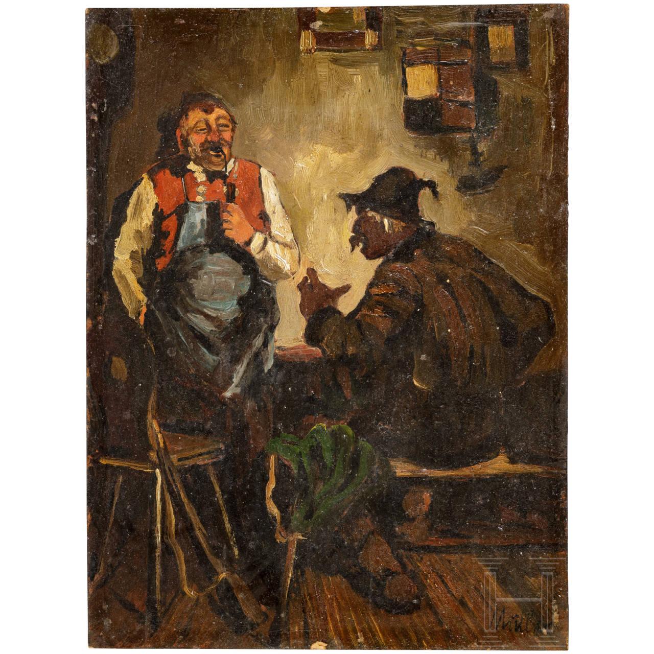 """""""Im Wirtshaus"""", süddeutsch, um 1900"""