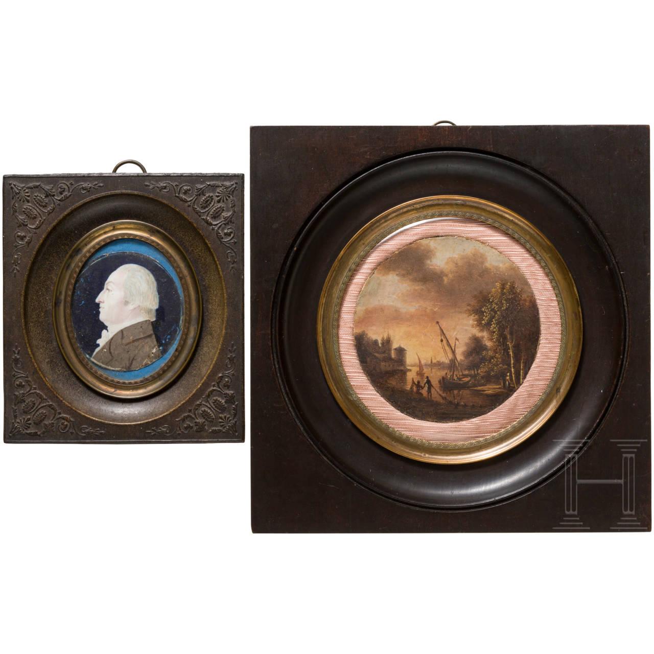 Zwei Miniaturen, 19. Jhdt.