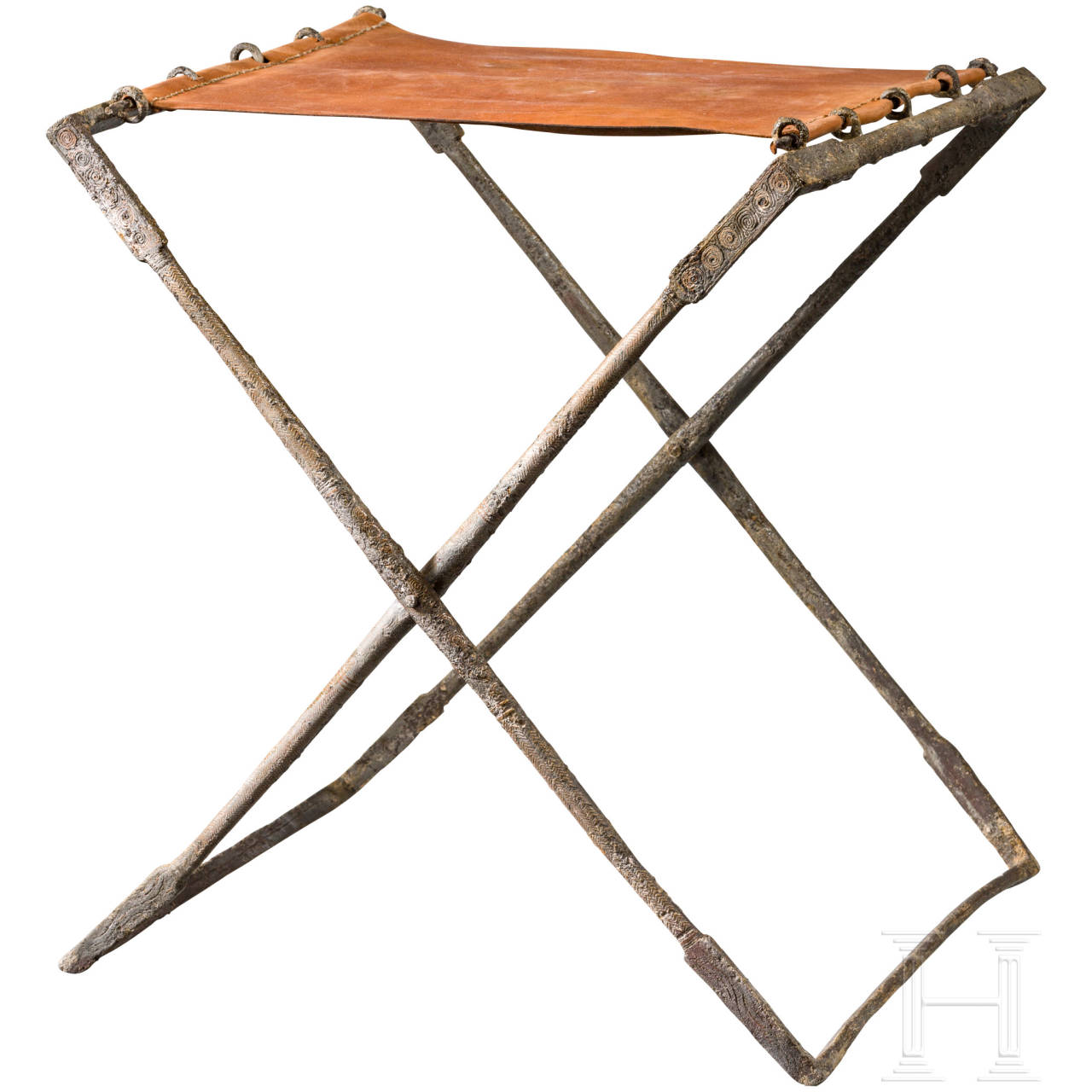 A Roman folding chair in iron for a commander in the field (sella castrensis), 2nd - 6th century