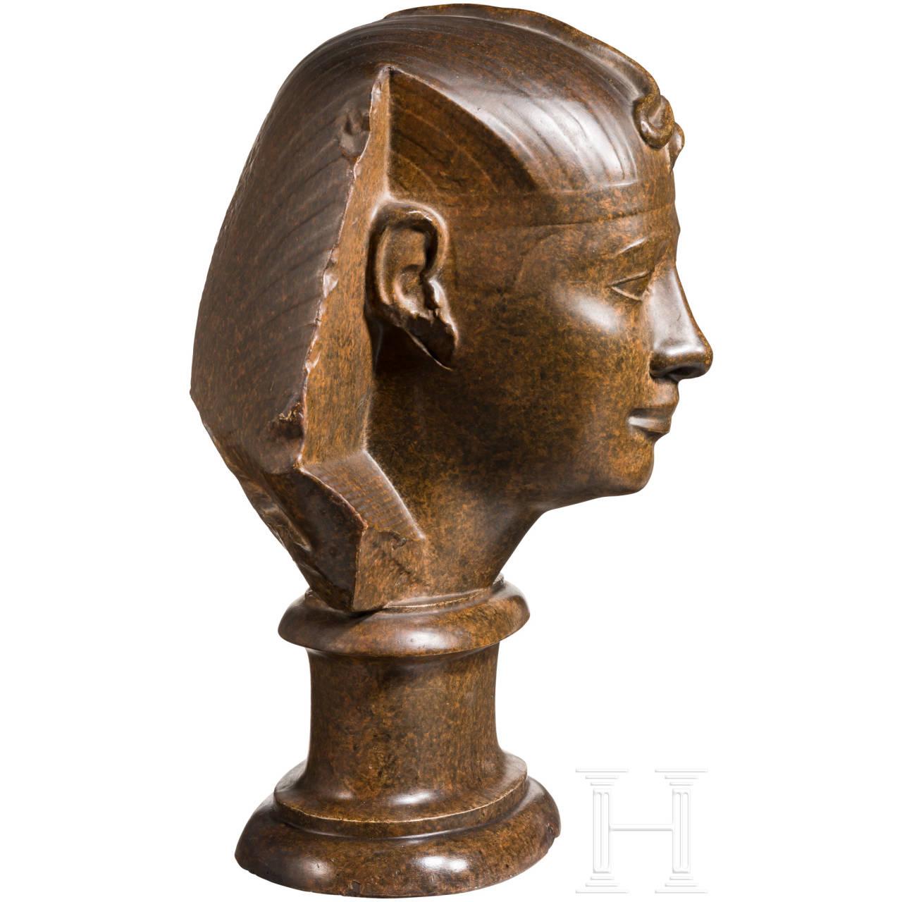 Abguss eines monumentalen Pharaonenkopfes